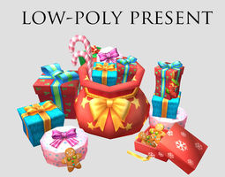 gift present Christmas holiday decoration package 3D model