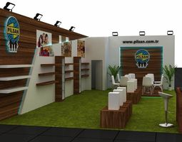 Exhibition Stand -2 3D model