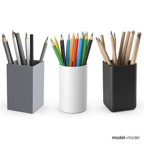 pencils 3d model max obj mtl fbx 1