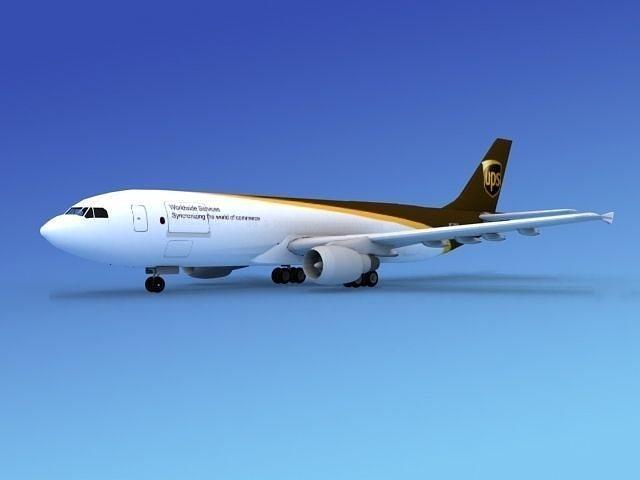 airbus a300 ups 1 3d model max obj mtl 3ds lwo lw lws dxf stl 1