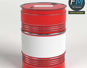 Oil Drum Barrel 3D model