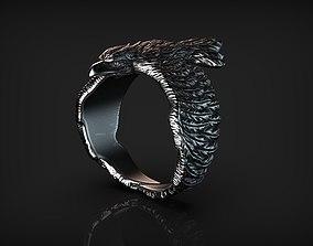 Stylized Bird Raven Ring 3D print model