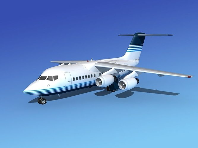 bae 146-100 corporate 2 3d model rigged max obj 3ds lwo lw lws dxf stl 1