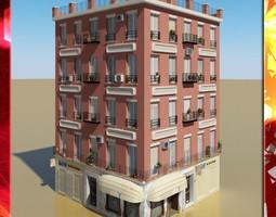 Photorealistic Low Poly Building 3D model suburb