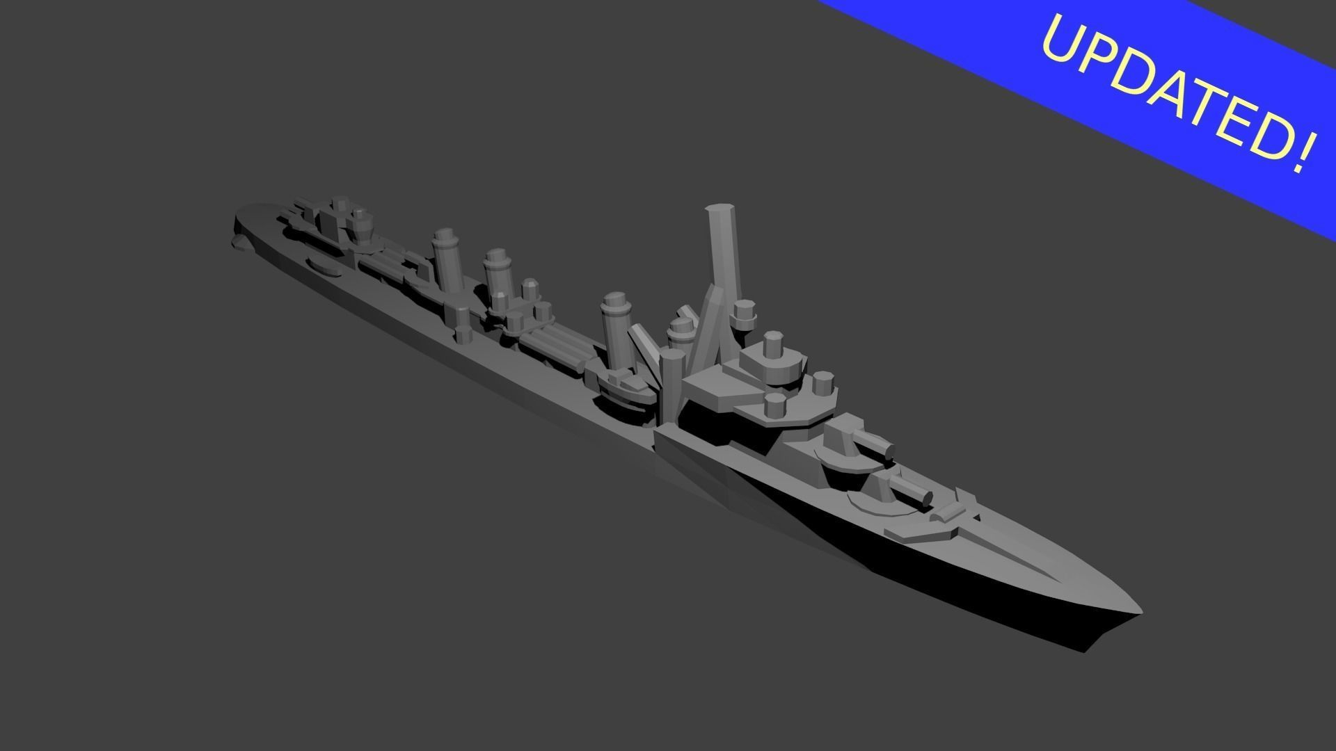 French Aigle Class Destroyer Warship