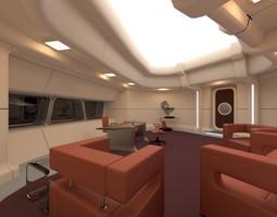 3d model starship interior - captain s room