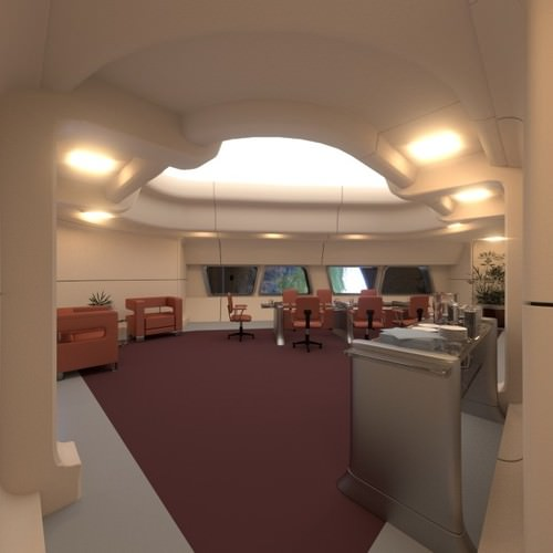 starship interior - conference room 3d model obj 3ds blend mtl 1