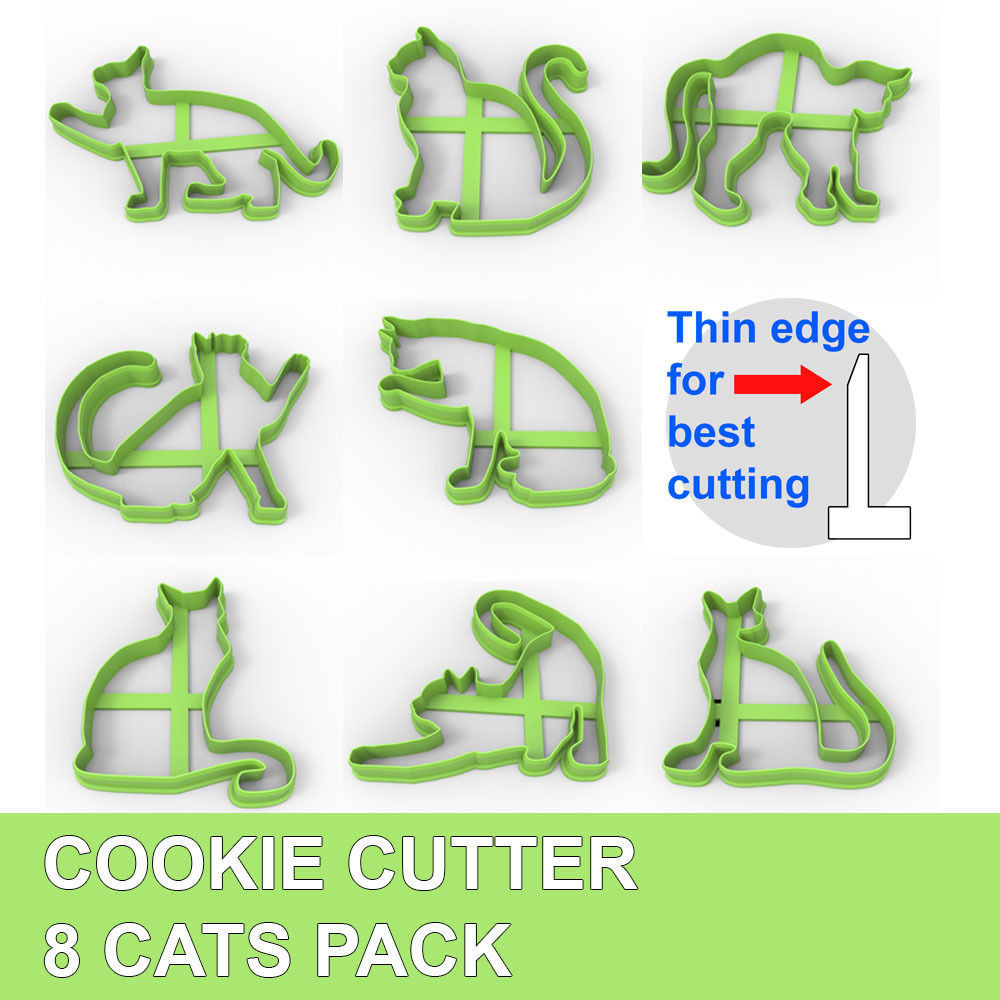 COOKIE CUTTER 8 CATS PACK