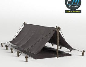 3D model Simple Pup Tent