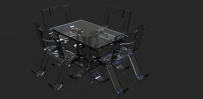 dining table set free 3d model dwg ige igs iges