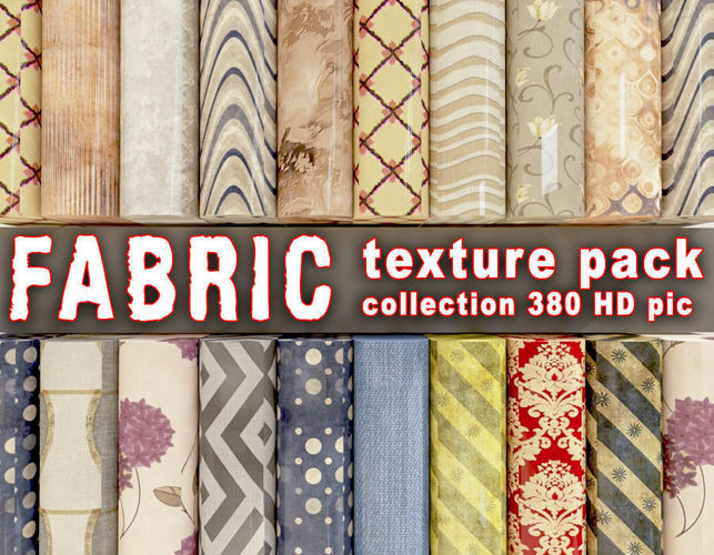 fabric -  collection texture 380 pic 3d model max 1