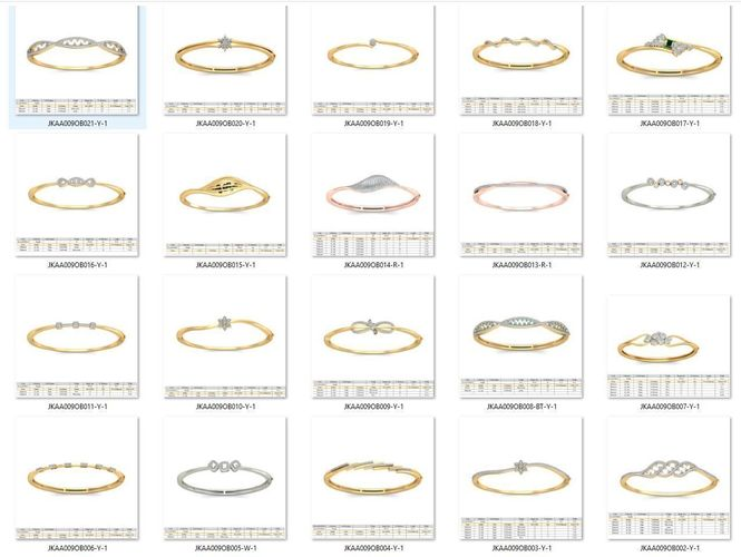 collection- bulk bracelets-0002-3dm with stones-20 files 3d model stl 3dm 1
