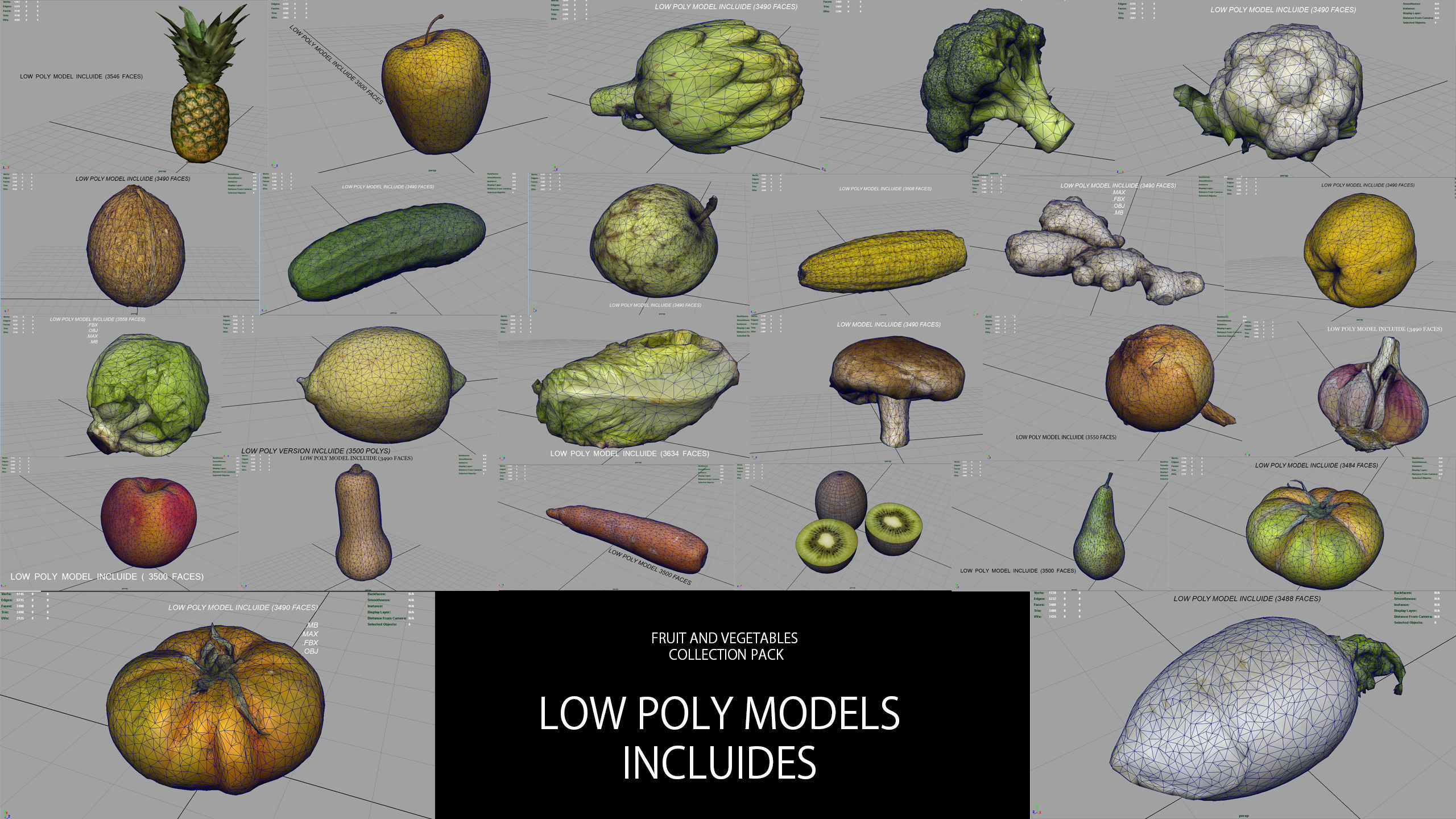 FRUIT AND VEGETABLES COLLECTION PACK