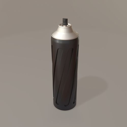 twisted aerosol spray 3d model fbx blend 1