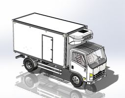 Refrigerated Truck 3D