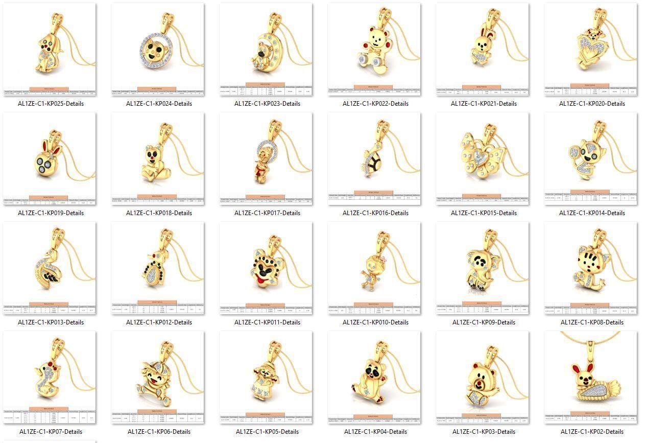 Collection- Bulk Pendants-0004-3dm with stones-25 Files