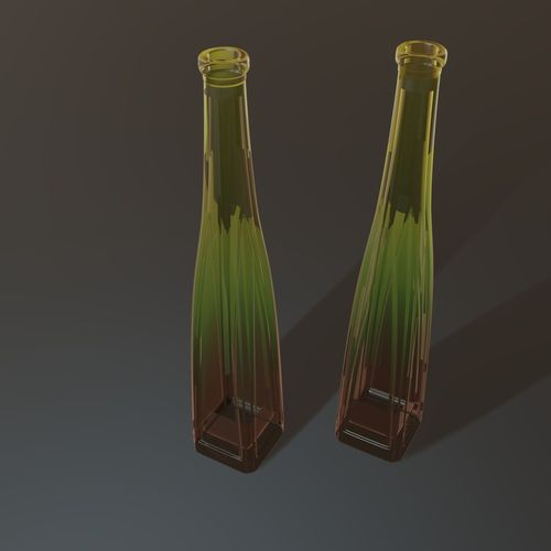 gradient colored bottle 3d model fbx blend 1