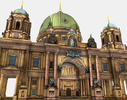 Berlin Cathedral German Berliner Dom 3d realtime