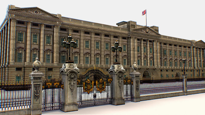 residence and administration buckingham palace 3d models 3d model max obj mtl fbx ma mb tga 1