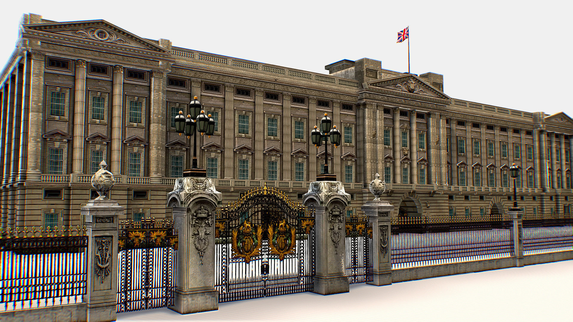 Residence and Administration Buckingham Palace 3d models