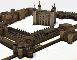 game-ready Fortress of the Tower of London historic 2