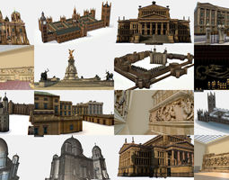 AR VR Historical Building Architectural Monument 3D model
