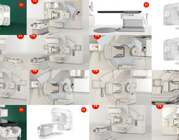 3D model 2 Radiotherapy Machines