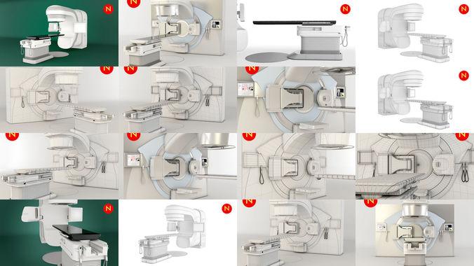 2 radiotherapy machines 3d model max obj mtl 3ds fbx stl 1