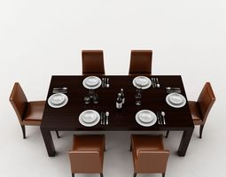 Dining Table 3D model interior-design