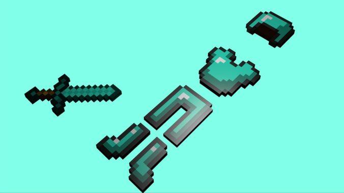 minecraft diamond  warior items