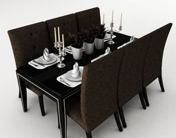 dining table 48 3d