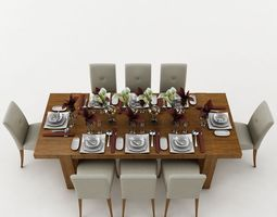 3D Dining Table dining-table