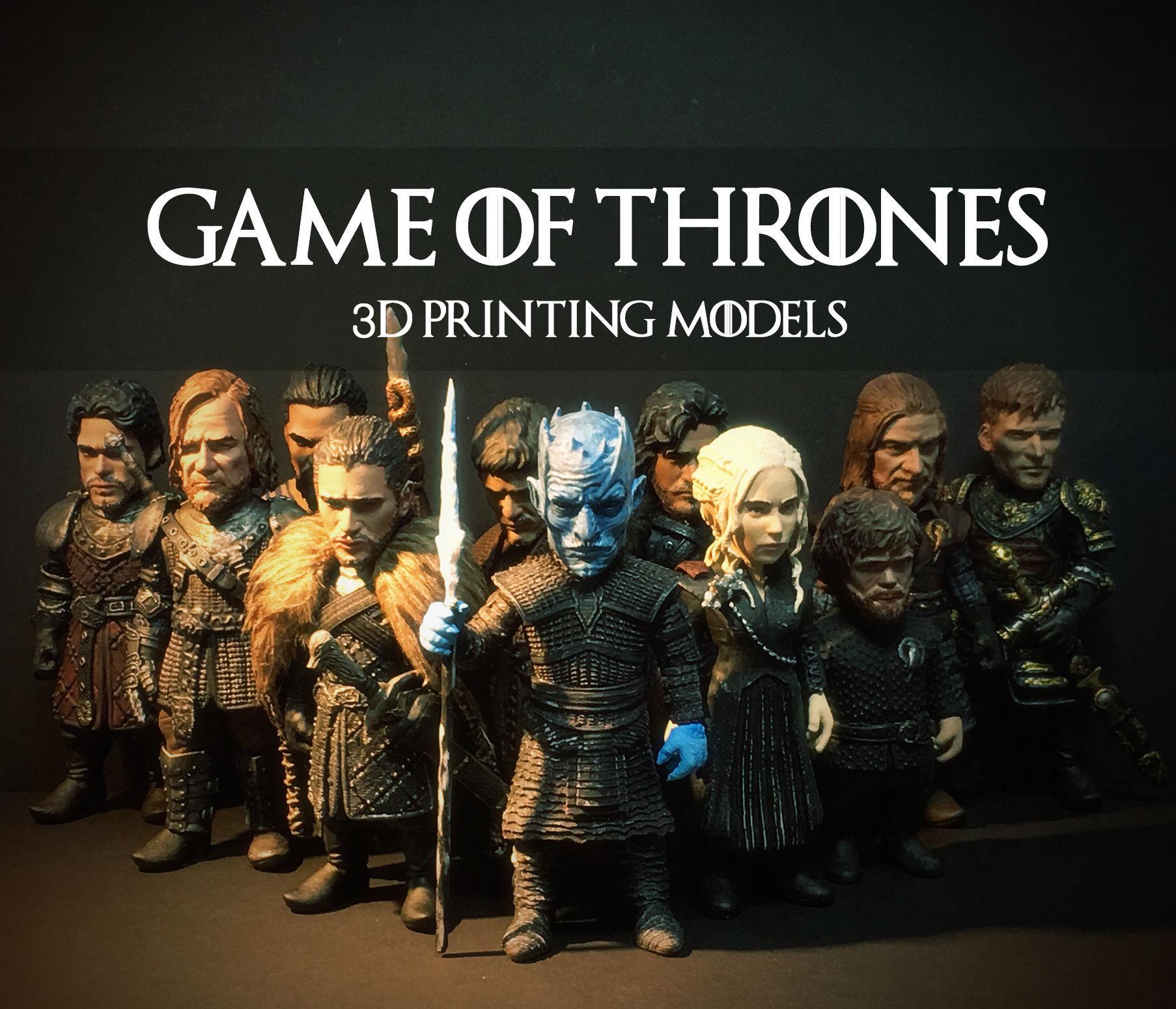 GAME OF THRONES 3D PRINTING MODEL SET