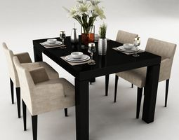 dining table 50 3d