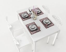 dining table 54 3d