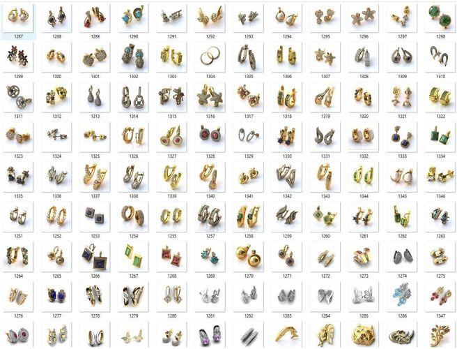 collection- bulk earrings-0011-3dm with stones-109 files 3d model stl 3dm 1