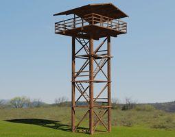 3D asset Watch Tower