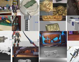 3D model overwatch cosplay props