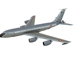 Boeing KC-135R French Air Force Silver scheme 3D asset