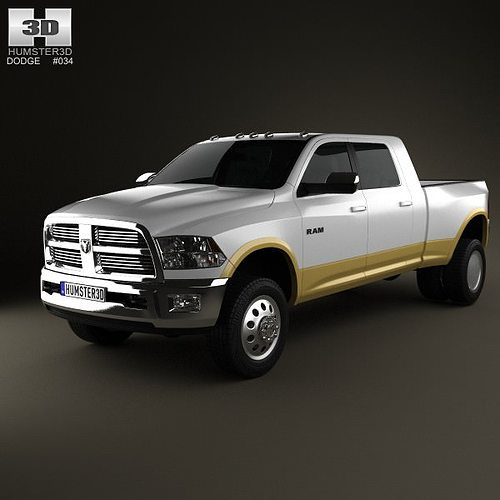 dodge ram 3500 mega cab dually laramie 6 foot 4 inch box 2012 3d model max obj 3ds fbx c4d lwo. Black Bedroom Furniture Sets. Home Design Ideas