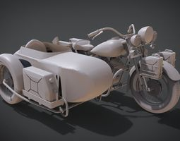 1942 Harley Davidson WLA 3D printable model