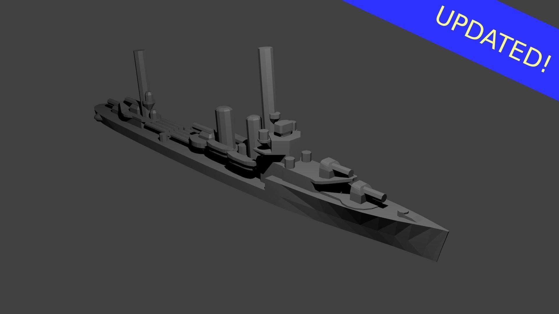US Farragut Class Destroyer Warship
