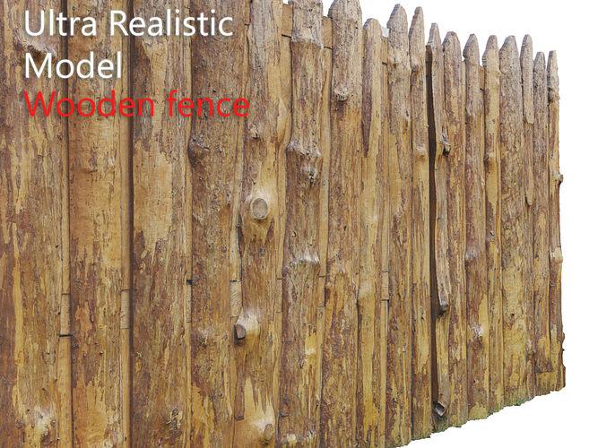 wooden old fence scan 3d model low-poly max obj mtl fbx 1