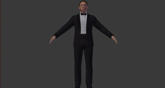 james bond-daniel craig-3d-model 3d model max obj mtl blend 1