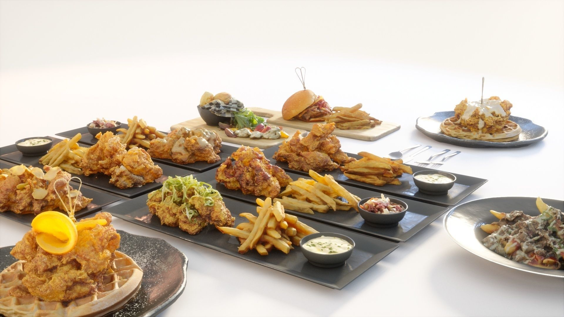 Fried chicken meal collection
