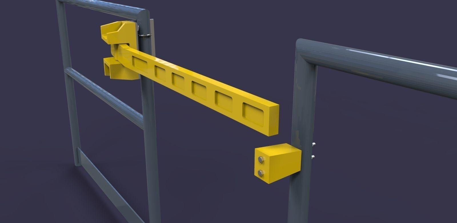 Mezzanine Safety Pivot Gate