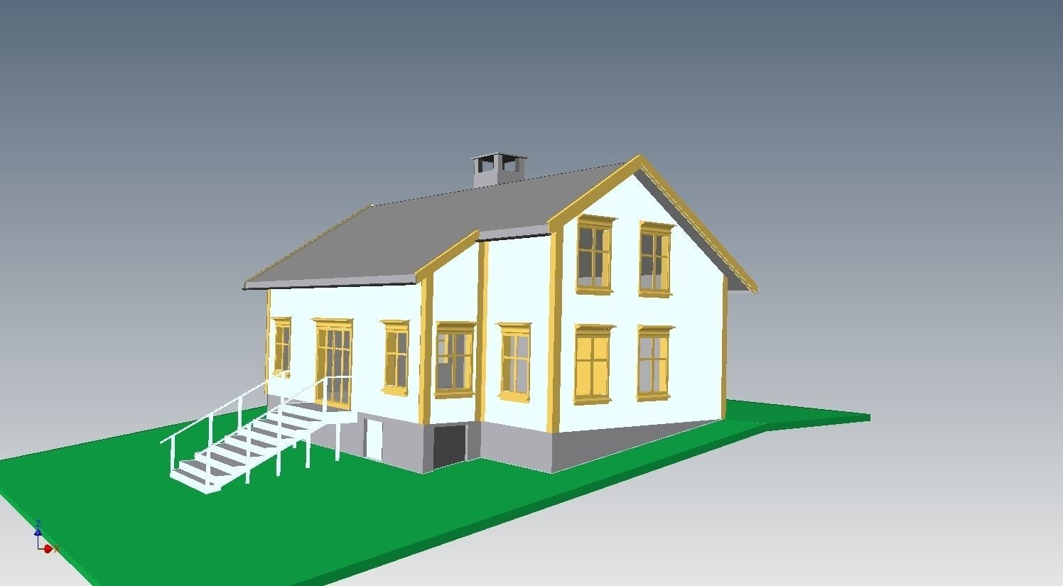 Country house free 3d model for Country house online
