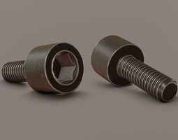 Screw M6 12mm 3D model
