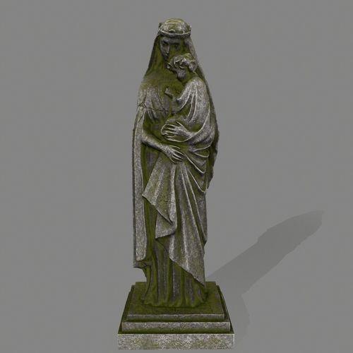 woman statue  3d model low-poly obj mtl fbx blend 1