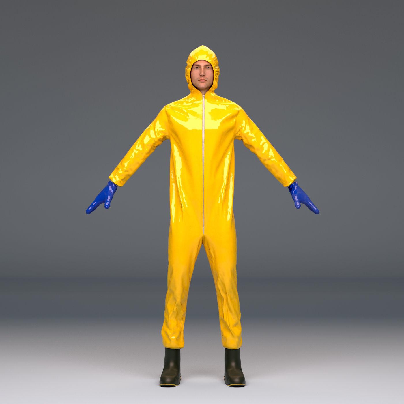 Biohazard protective hazmat suit